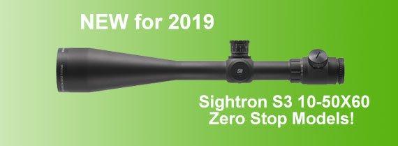 The New Sightron S3 riflescope with Zero Stop.